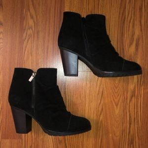 White mountain Black Sued/leather Ankle boots